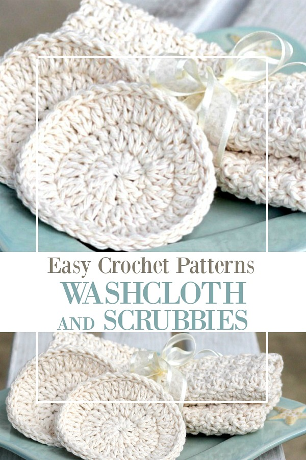 Crochet Wash Cloths Scrubbies Gift Grateful Prayer Thankful Heart