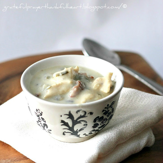 Creamy and delicious Turkey Wild Rice Soup is a favorite, especially during the holidays. Filled with chunks of turkey (or chicken), it is thick and hearty.