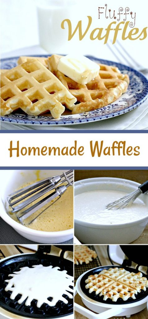 It is hard to beat a breakfast of homemade waffles hot off the pan. Easy recipe freezes well for a quick heat & serve on busy days.