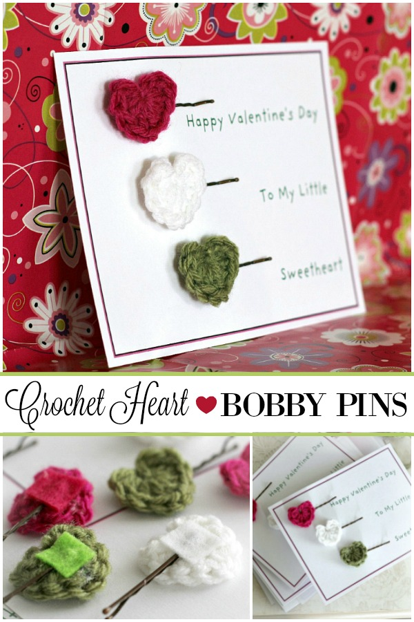 Quick and easy little crochet hearts can be added to many crafts and are especially cute on bobby pins for adorable hair accessories for girls.