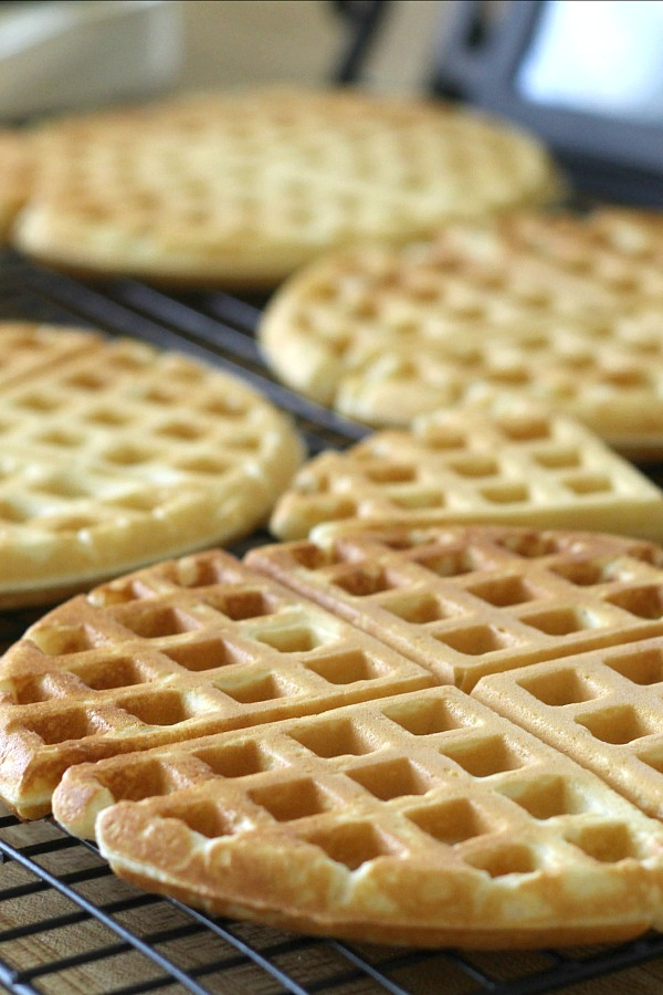 Make breakfast special with homemade waffles. Easy recipe for waffles that also freeze well for a quick heat and serve on busy days.