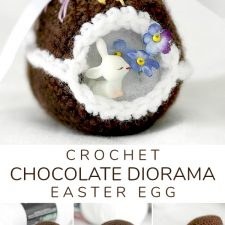 Crochet Chocolate Diorama Easter Egg
