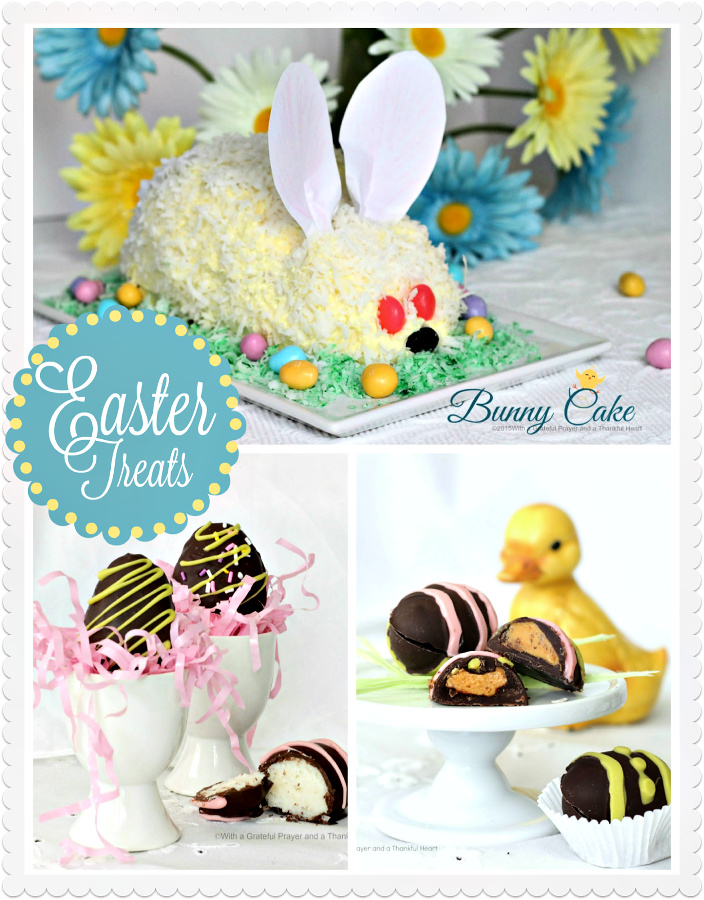 Easter candy, cakes, chocolate eggs and fun holiday recipes.