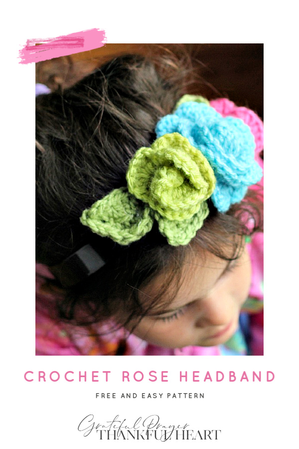 Make the cutest headbands for your little girl covered in roses. Free and easy pattern to crochet rosettes for crafting. Make in pretty colors to match an outfit, a season or occasion.