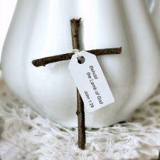 Little Wooden Cross from Sticks
