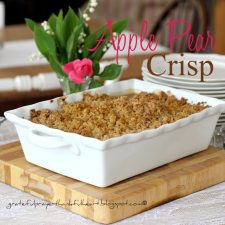 Apple Pear Crisp or Apple Blueberry Crisp