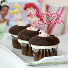 Raspberry Frosted Sweetheart Chocolate Cupcakes for My Sweethearts