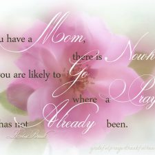 Think on These Things #13 ~ Mommy