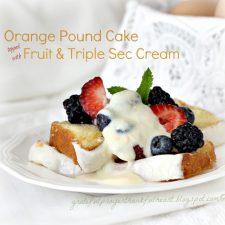 Orange Pound Cake with Triple Sec Cream