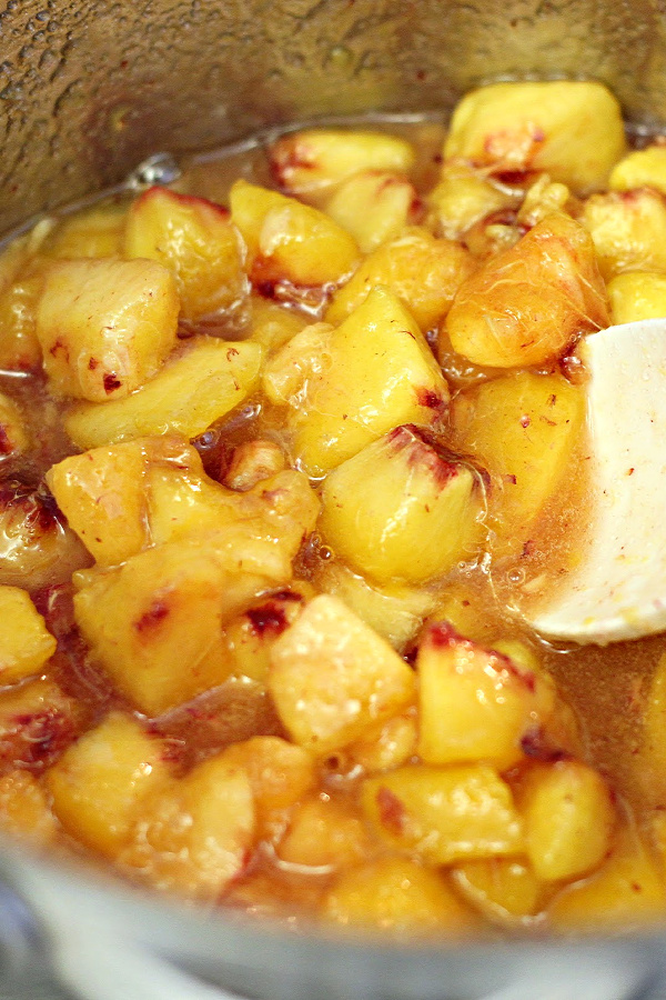 Peach chutney is a sweet condiment with a mild kick. An easy recipe, it is great served with cheese as an appetizer and great on grilled chicken, pork chops, grilled cheese or deli sandwiches.