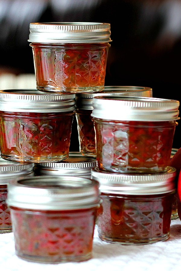 A great flavor combo of sweetness and heat, Pepper Jam, also called pepper jelly or Jalapeno Jelly pairs perfectly with goat or cream cheese for a delicious appetizer.
