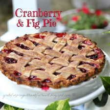 Cranberry & Fig Pie