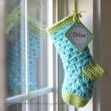 Lined Crochet Stocking for Chloe