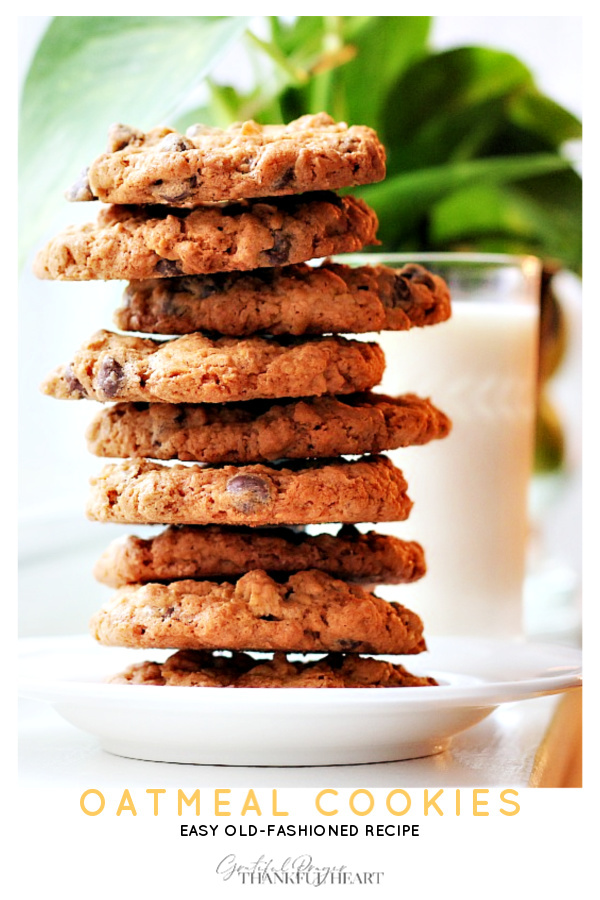 Vintage recipe for Oatmeal Raisin Cookies is easy with an old-fashioned goodness. Chewy center and crispy outside. Substitute raisins with chocolate chips if preferred.