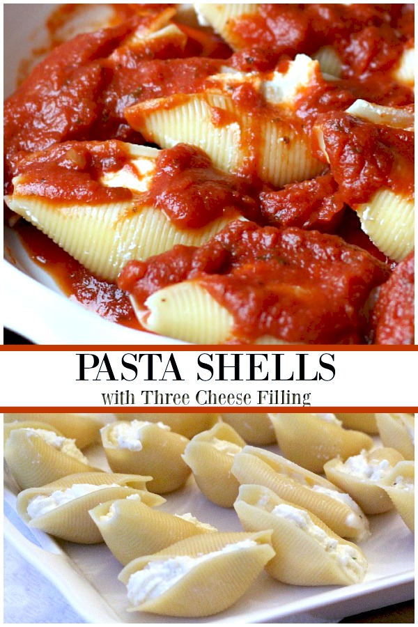 Easy pasta shells with cheese filling is a dish of tender pasta and a creamy, cheesy filling. Serve with a side salad, bread and a glass of wine on a candle-lit table for an extra special dinner.