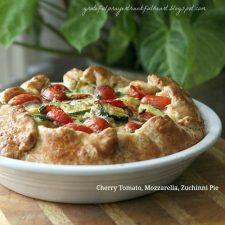 Cherry Tomato, Mozzarella, and Zucchini Pie