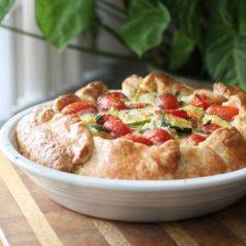 Cheesy Tomato Zucchini Galette