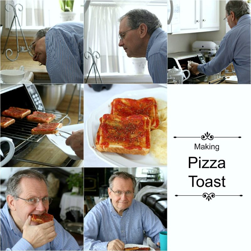 Pizza Toast is a unique family food creation passed down through the generations. Simple, tangy, tasty and delicious, this dad proudly prepares his childhood treat with all seriousness.