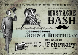 Super fun Mustache Bash theme birthday party with lots of inspiration and ideas for food, menu, decorations and games. Interactive and lots of laughs!
