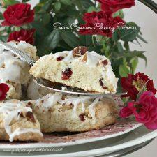 Sour Cream Cherry Scones