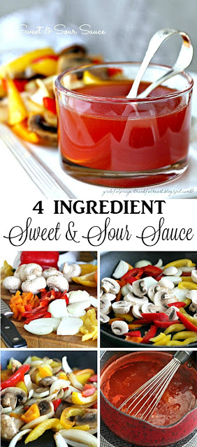 Kick up roasted pork and poultry with easy, 4-ingredient sweet and sour sauce. Serve this tasty condiment on the side to spoon over meat for lots of flavor.
