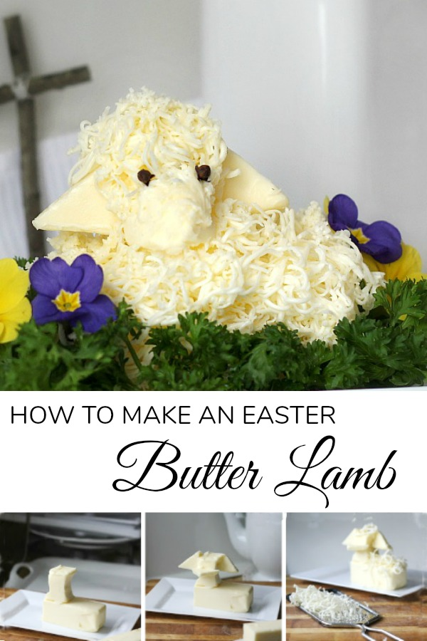 Create a sweet little Easter butter lamb, covered in woolly curls with easy how-to directions. It is cute, decorative and symbolic for your holiday table.