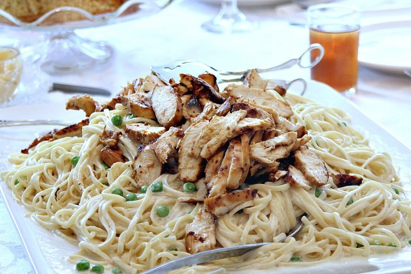 Easy recipe for a lighter, healthier version of Fettuccine Alfredo, Serve sage infused Fettuccine Alfredo with a crisp salad or topped with grilled chicken for a lovely Easter dinner, romantic Valentine's Day or whenever you want a special pasta meal.