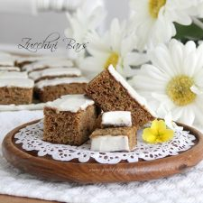 Zucchini Bars with Spice Frosting