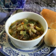 Sausage Potato & Fennel Soup and an Easy Tablescape