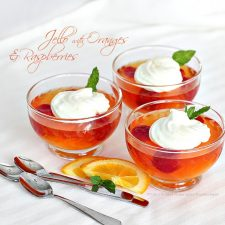 Dieting Desserts, Light yet Satisfying Orange or Strawberry Jello Parfait