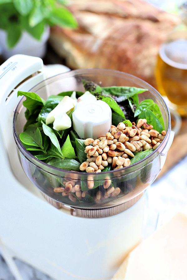 how to make fresh basil pesto recipe