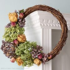 DIY Dried Hydrangea Wreaths