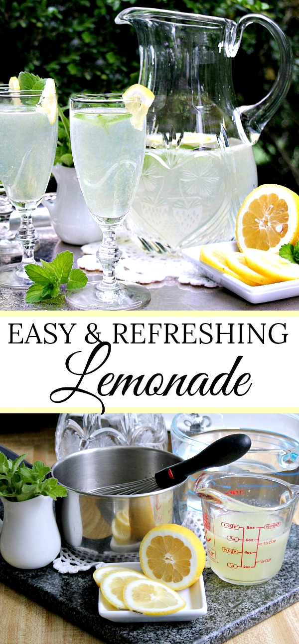 Easy and refreshing, summertime lemonade is a great thirst quencher. A fun cooking experience with kids too during those sometimes long, I'm-bored days. Make a pitcher full and sit back to enjoy the chill!
