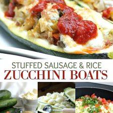 Zucchini Boats with Sausage & Brown Basmati Rice