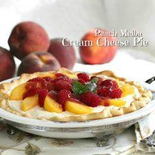 Peach Melba Cream Cheese Pie