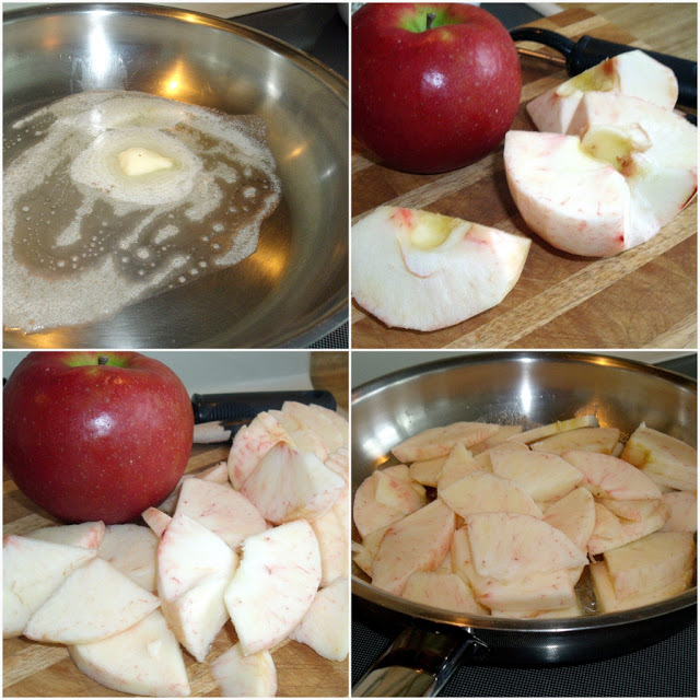 Easy recipe for sautéed apples made on the stovetop, is the perfect sidedish for many entrees.