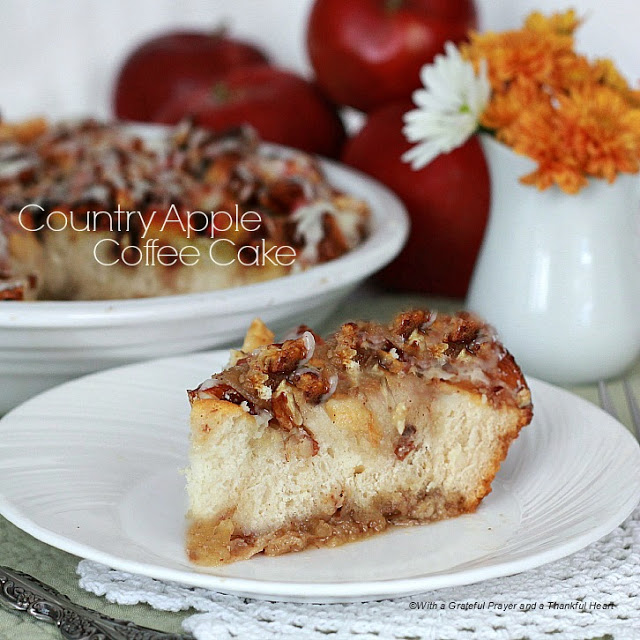 No mixer needed to make Country Apple Coffee Cake. Begin with a tube of refrigerated biscuits for an easy treat just right with coffee or a glass of milk.