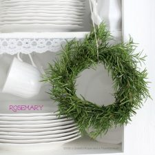 Rosemary Wreath and Rosemary Parmesan~Crusted Pork Chop Dinner