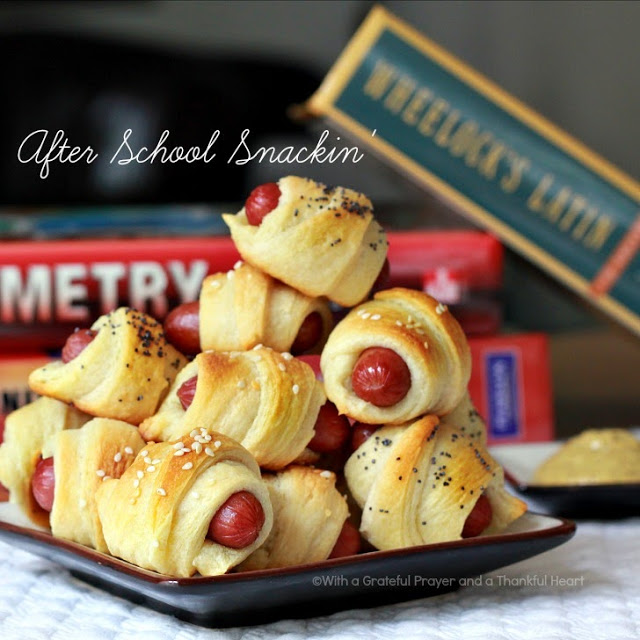 An ever popular and easy appetizer, Pigs in a Blanket is a great after school snack especially for high school boys!