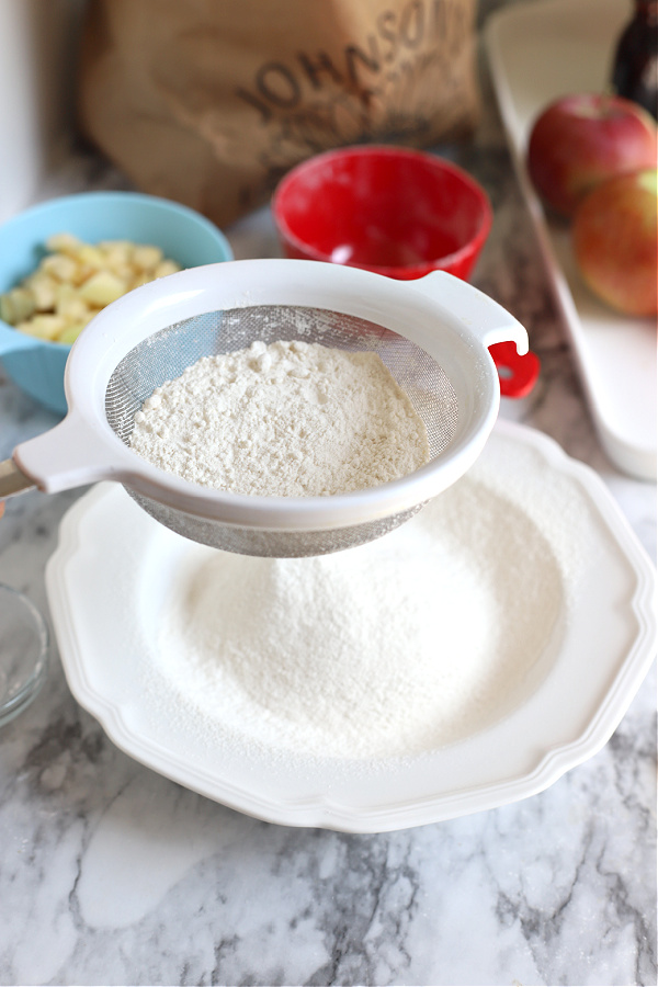 dry ingredients for apple coffee cake batter