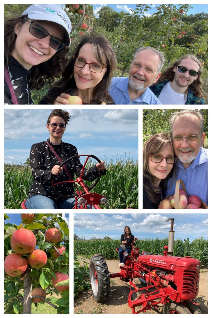 Apple picking at Johnson's farm Jobstown New Jersey