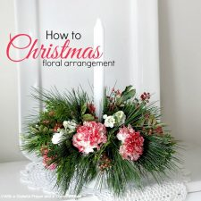 Floral Christmas Centerpiece