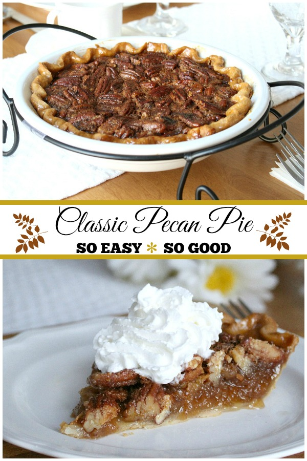 Super easy and super delicious, classic pecan pie is an all-time favorite dessert.