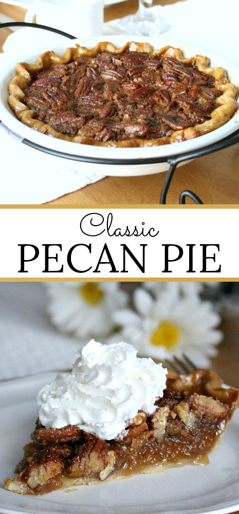 Very easy recipe for Classic Pecan Pie that take little time to prepare. Delicious anytime of year but especially nice for Thanksgiving.
