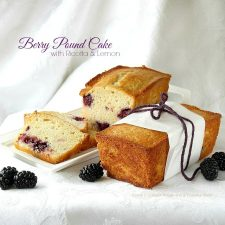 Berry Pound Cake Mini Loaves with Ricotta and Lemon