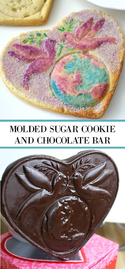 Make a sugar cookie, chocolate bar or tissue paper decoration using a Pampered Chef Heart Shaped Mold.