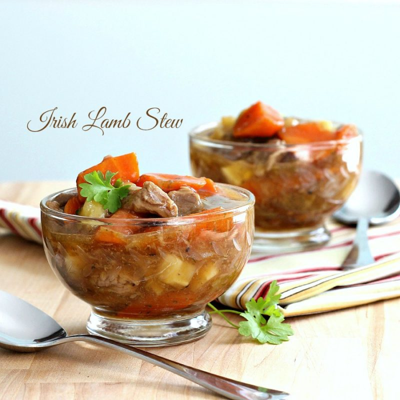 Instead of the usual St. Patrick's Day dinner of corned beef and cabbage, try Irish Lamb Stew. Brimming with leeks, carrots, parsnips and flavored with dill it is a delicious meal.Thickened with cornstarch instead of flour, it is also gluten-free.