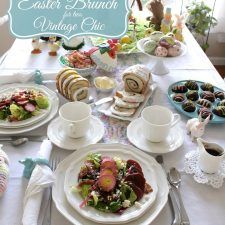 Vintage Chic Easter Brunch for Two