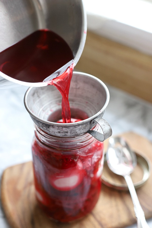 Pickled eggs with beets is an old-fashioned recipe that is terrific served as an appetizer, made into egg salad or sliced onto a salad.