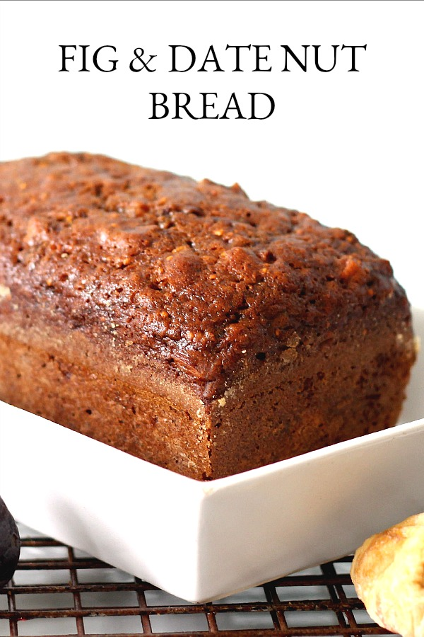Brimming with fruit and nuts, Fig & Date Nut Bread packs a lot of nutrition and flavor into every bite. This easy quick bread recipe is great for breakfast or afternoon snack.
